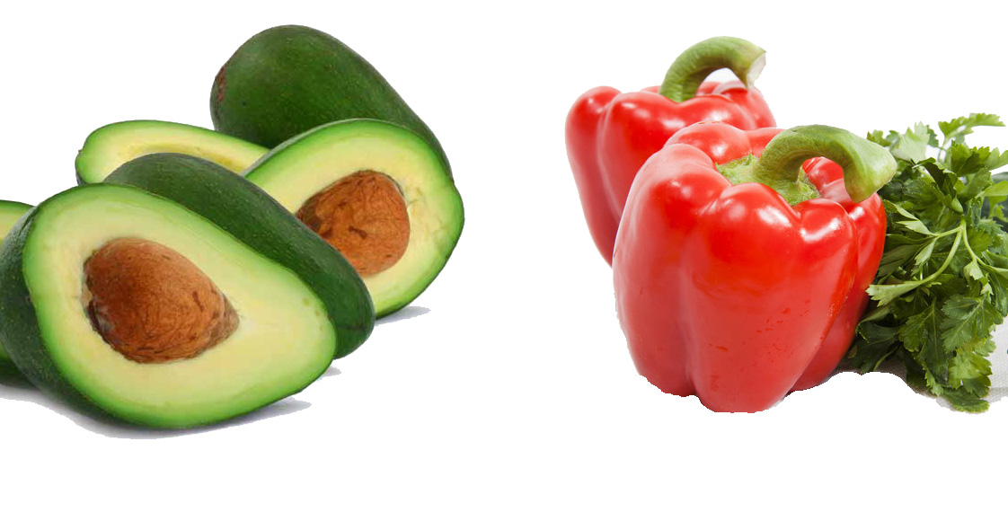 Avocado and pepper
