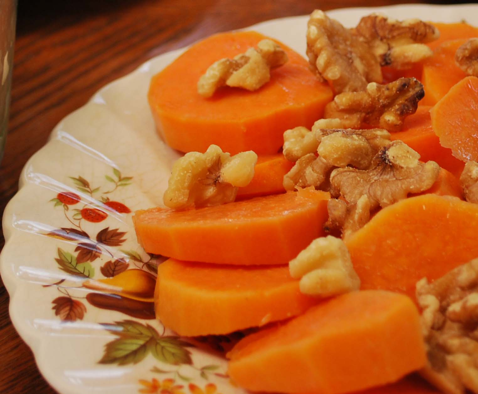 sweet potatoes with walnuts