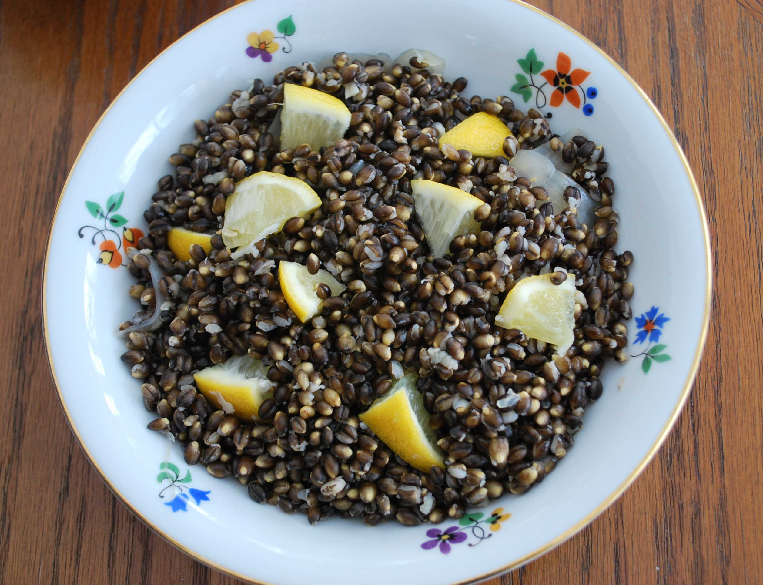 barley with lemon